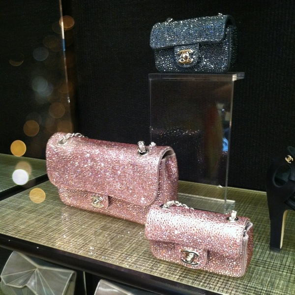 Chanel Swarovski handbags