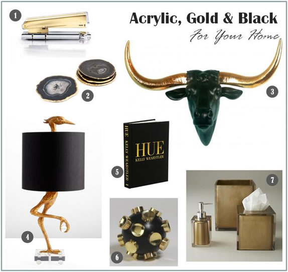 Acrylic, Gold and Black For Your Home - Metsy Shines