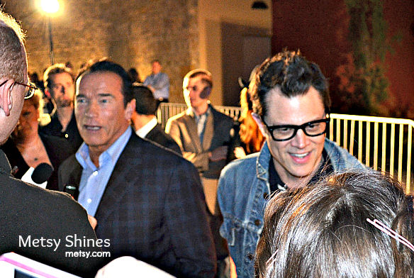 The Last Stand Dallas Premiere with Arnold Schwarzenegger and Johnny Knoxville